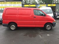 2004 TOYOTA HI-ACE 2.5 280 GS SWB 4 DOORS 88 BHP IN RED WITH 94000 MILES IN GOOD CONDITION £2199.00
