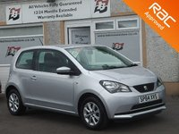 USED 2014 64 SEAT MII 1.0 TOCA 3d 59 BHP Aux- Airconditioning- Contrasting White & Blue Dash