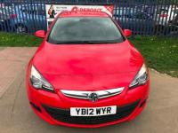"USED 2012 12 VAUXHALL ASTRA GTC 1.7 CDTi 16V 130 SRi 3dr ""24 MONTHS FULLY/COM WARRANTY""+2 KEY+F/R PARKING SENSORS+DAB+OPEN 7 DAYS A WEEK"