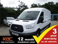 USED 2015 65 FORD TRANSIT LWB 350 L3 H2 FWD 125ps Panel van, towbar, tidy, FSH!!