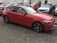 USED 2013 13 BMW 1 SERIES 2.0 116D SPORT 5d 114 BHP PRICE INCLUDES A 6 MONTH AA WARRANTY DEALER CARE EXTENDED GUARANTEE, 1 YEARS MOT AND A OIL & FILTERS SERVICE. 6 MONTHS FREE BREAKDOWN COVER.