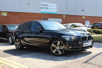 2013 BMW 1 SERIES 2.0 116D SPORT 5d 114 BHP £8750.00
