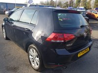 USED 2013 13 VOLKSWAGEN GOLF 1.6 SE TDI BLUEMOTION TECHNOLOGY DSG 5 DOOR AUTOMATIC 103 BHP IN BLACK WITH 78000 MILES APPROVED CARS ARE PLEASED TO OFFER THIS VOLKSWAGEN GOLF 1.6 SE TDI BLUEMOTION TECHNOLOGY DSG 5 DOOR AUTOMATIC IN BLACK WITH BLACK CLOTH INTERIOR AND A FULL SERVICE HISTORY SERVICED AT 7K,20K,36K,57K,68K (WITH CAM BELT REPLACED) A TRULY FULL HISTORY GOLF AUTOMATIC AT A VERY SENSIBLE PRICE.