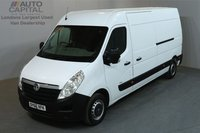 USED 2016 66 VAUXHALL MOVANO 2.3 F3500 109 BHPL3 H2 LWB MEDIUM ROOF AIR CON SAT NAV AIR CONDITION, NAVIGATION, REAR PARKING SENSORS