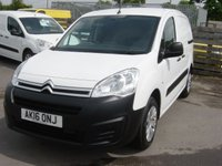 2016 CITROEN BERLINGO 1.6 625 ENTERPRISE L1 HDI 1d 74 BHP AIR CON NEW SHAPE VAN £6995.00