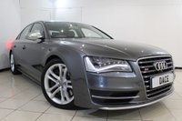 USED 2012 12 AUDI S8 4.0 S8 TFSI QUATTRO 4d AUTO 513 BHP SAT NAV Bluetooth Lots of extras Satellite Navigation System BOSE Surround Sound System Mobile Telephone Preparation  Audi Parking System Advanced Front and Rear Camera