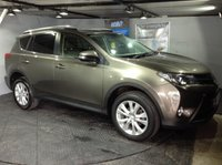 USED 2013 63 TOYOTA RAV4 2.2 D-4D INVINCIBLE 5d 150 BHP Bluetooth : Satellite Navigation : DAB Radio   :   Full leather upholstery   :   Heated front seats   :   Electric driver's seat   : Sport mode      :      Reversing camera and sensors      :      Remotely operated tailgate     : Fully stamped Toyota main dealer service history