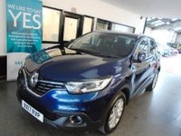 USED 2017 17 RENAULT KADJAR 1.5 DYNAMIQUE NAV DCI 5d AUTO 110 BHP Two owners, Renault service history, warranty till 2020, Diesel Automatic. Finished in Metallic Cosmos Blue
