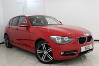USED 2014 14 BMW 1 SERIES 2.0 116D SPORT 5DR 114 BHP BLUETOOTH + PARKING SENSOR + CRUISE CONTROL + AUXILIAIRY PORT + RADIO/CD + AIR CONDITIONING + 17 INCH ALLOY WHEELS