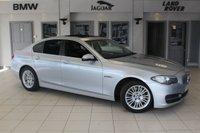 USED 2014 14 BMW 5 SERIES 2.0 520D SE 4d 181 BHP FULL BLACK LEATHER SEATS + FULL BMW SERVICE HISTORY + SAT NAV + ELECTRIC SUNROOF + £30 ROAD TAX + BLUETOOTH + HEATED FRONT SEATS + DAB RADIO + PARKING SENSORS + 17 INCH ALLOYS