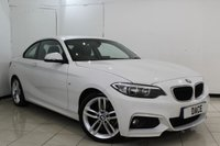 USED 2014 14 BMW 2 SERIES 2.0 218D M SPORT 2DR 141 BHP SERVICE HISTORY + LEATHER SEATS + BLUETOOTH + PARKING SENSOR + BLUETOOTH + MULTI FUNCTION WHEEL + AUXILIARY PORT + AIR CONDITIONING + ALLOY WHEELS