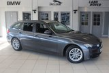 USED 2015 15 BMW 3 SERIES 2.0 320D EFFICIENTDYNAMICS BUSINESS TOURING 5d AUTO 161 BHP FULL BLACK LEATHER SEATS + BMW SERVICE HISTORY + SAT NAV + BLUETOOTH + DAB RADIO + HEATED FRONT SEATS + £30 ROAD TAX + CRUISE CONTROL + 17 INCH ALLOYS