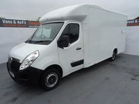 USED 2015 65 VAUXHALL MOVANO 2.3 F3500 L3H1 P/C CDTI 1d 125 BHP movano low loader luton with only 30k miles