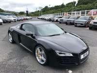 USED 2007 57 AUDI R8 4.2 QUATTRO 2d 420 BHP Phantom Black, Cream leather, 19 inch alloys, R8 Plate & just serviced