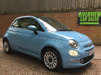 2016 FIAT 500 1.2 LOUNGE 3d 69 BHP VERY LOW MILEAGE WITH HIGH SPEC £7995.00