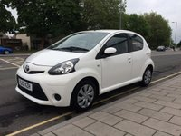 USED 2012 12 TOYOTA AYGO 1.0 VVT-I ICE 5d 68 BHP Only 43,718 miles, Zero road tax, Air conditioning, remote central locking, Half leather trim, service history.
