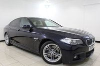 USED 2014 64 BMW 5 SERIES 3.0 535D M SPORT 4DR AUTOMATIC 309 BHP SAT NAV  SERVICE HISTORY + HEATED LEATHER SEATS + SATELLITE NAVIGATION + PARKING SENSOR + BLUETOOTH + CRUISE CONTROL + CLIMATE CONTROL + 18 INCH ALLOY WHEELS