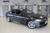 USED 2014 14 BMW 5 SERIES 2.0 520D M SPORT 4d AUTO 181 BHP FULL SERVICE HISTIORY + FULL BLACK LEATHER SEATS + SAT NAV + DAB RADIO + PARKING SENSORS + HEATED FRONT SEATS + 18 INCH ALLOYS + BLUETOOTH + CRUISE CONTROL + AIR CONDITIONING