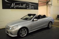 USED 2011 61 MERCEDES-BENZ E CLASS 2.1 E220 CDI BLUEEFFICIENCY SPORT ED125 2d AUTO 170 BHP CONVERTIBLE