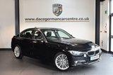 USED 2014 14 BMW 3 SERIES 2.0 325D LUXURY 4DR 215 BHP + FULL BLACK LEATHER INTERIOR + FULL BMW SERVICE HISTORY + SATELLITE NAVIGATION + BLUETOOTH + CRUISE CONTROL + DAB RADIO + RAIN SENSORS + PARKING SENSORS + 18 INCH ALLOY WHEELS +