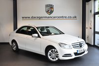 USED 2014 14 MERCEDES-BENZ C CLASS 2.1 C220 CDI EXECUTIVE SE 4DR 168 BHP + FULL BLACK LEATHER INTERIOR + FULL SERVICE HISTORY + SAT NAV PREP + BLUETOOTH + CRUISE CONTROL + RAIN SENSORS + PARKING SENSORS + 17 INCH ALLOY WHEELS +