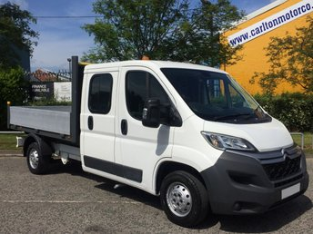 2015 CITROEN RELAY 2.2 35 L3 HDI 130 D/Cab DROPSIDE 10ft ALLOY BODY TOOLSTORE FREE UK DELIVERY £10950.00