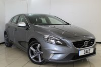 USED 2015 04 VOLVO V40 2.0 D2 R-DESIGN 5DR AUTO 118 BHP SERVICE HISTORY + HEATED HALF LEATHER SEATS + BLUETOOTH  CRUISE CONTROL + MULTI FUNCTION WHEEL + 17 INCH ALLOY WHEELS