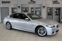 USED 2016 16 BMW 5 SERIES 2.0 520D M SPORT 4d AUTO 188 BHP FULL BLACK LEATHER SEATS + FULL SERVICE HISTORY + PROFESSIONAL SAT NAV + £30 ROAD TAX + BLUETOOTH + HEATED FRONT SEATS + 18 INCH ALLOYS + CRUISE CONTROL + PARKING SENSORS