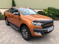 USED 2016 16 FORD RANGER 3.2 WILDTRAK 4X4 DCB TDCI 1d 197 BHP TOP SPEC! SAT NAV, REVERSE CAM, HEATED SEATS, ELECTRIC SEATS