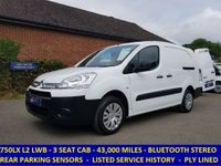 2015 CITROEN BERLINGO 3 SEAT 750LX LWB WITH SERVICE HISTORY £6995.00