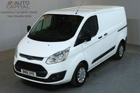 USED 2016 16 FORD TRANSIT CUSTOM 2.2 290 TREND L1 H1 SWB LOW ROOF AIR CON FRONT-REAR PARKING SENSORS MOT UNTIL 3/03/2019