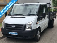 2012 FORD TRANSIT 2.4 RWD 350 LWB DRW CREWCAB TIPPER 100BHP 6 SPEED £9995.00