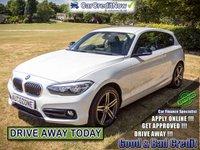 2016 BMW 1 SERIES 1.5 118I SPORT 3d 134 BHP £13995.00