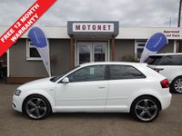 USED 2010 60 AUDI A3 2.0 TDI S LINE SPECIAL EDITION 3DR DIESEL 140 BHP+++£30 PER YEAR TAX+++ ++++SUMMER SALE NOW ON+++