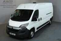 USED 2016 66 CITROEN RELAY 2.0 35 ENTERPRISE 129 BHP L3 H2 LWB MEDIUM ROOF A/C SAT NAV E6 2 OWNER FROM NEW, MANUFACTURE WARRANTY UNTIL 15/11/2019