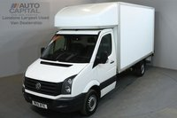 USED 2015 15 VOLKSWAGEN CRAFTER 2.0 CR35 109 BHP LWB LUTON VAN REAR TAIL LIFT 3 OWNER FROM NEW, MOT UNTIL 12/06/2019