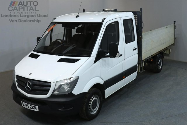 2015 65 MERCEDES-BENZ SPRINTER 2.1 313 CDI 129 BHP MWB 7 SEATS TIPPER 2 OWNER FROM NEW, MOT UNTIL 29/09/2018