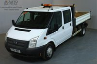 USED 2014 64 FORD TRANSIT 2.2 460 L 153 BHP L3 LWB TIPPER  ONE OWNER FROM NEW, FULL SERVICE HISTORY
