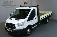 USED 2015 15 FORD TRANSIT 2.2 350 124 BHP L4 EXTRA LWB DROPSIDE LORRY  ONE OWNER FROM NEW, EXTRA LONG WHEELBASE