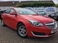 USED 2014 14 VAUXHALL INSIGNIA 2.0 DESIGN NAV CDTI ECOFLEX S/S 5d 118 BHP PRICE INCLUDES A 6 MONTH RAC WARRANTY, 1 YEARS MOT WITH 12 MONTHS FREE BREAKDOWN COVER