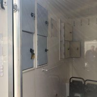 USED 2009 OTHER UK OTHER BRITISH SINGLE WHEEL SHOWER MAN HYGENE MOBILE SHOWER BOX TRAILER +SHOWER+LOCKERS+GENERATOR+
