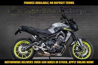 2018 YAMAHA MT-09 900CC  ABS 112 BHP £7191.00
