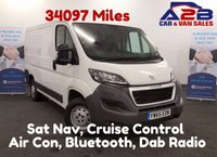 USED 2016 65 PEUGEOT BOXER 2.2 HDI PROFESSIONAL 110 BHP, Only 34097 Miles, Sat Nav, Air Con, Bluetooth *Over The Phone Low Rate Finance Available*   *UK Delivery Can Also Be Arranged*           ___________       Call us on 01709 866668 or Send us a Text on 07462 824433