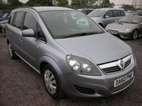 USED 2011 60 VAUXHALL ZAFIRA 1.7 EXCLUSIV CDTI ECOFLEX 5d 108 BHP Front and rear parking sensors - 7 Seater