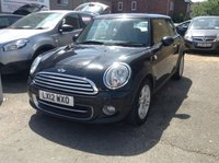USED 2012 12 MINI HATCH COOPER 1.6 COOPER 3d BLACK MANUAL PETROL ONE OWNER + GOOD SPEC + £2970 EXTRAS