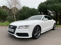 USED 2012 62 AUDI A7 3.0 TDI QUATTRO S LINE 5d AUTO 242 BHP LOOKS STUNNING IN WHITE WITH BLACK LEATHER