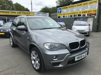 USED 2008 58 BMW X5  BMW X5 D M SPORT 5D AUTOMATIC IN A METALLIC GREY WITH A FULL BEIGE LEATHER INTERIOR AND 7 SEATS APPROVED CARS ARE PLEASED TO OFFER THIS BMW X5 D M SPORT 5D AUTOMATIC IN A METALLIC GREY WITH A GREAT SPEC INCLUDING  FULL CREAM LEATHER INTERIOR,7 SEATS,AUTO TAILGATE,6 DISC CD,REVERSE ASSIST CAMERA,PRIVACY GLASS,FRONT HEATED SEATS,PROFESSIONAL SAT NAV SYSTEM,PANORAMIC GLASS ROOF,20 INCH ALLOYS,BI XENON HEADLIGHTS,BLUETOOTH AND MUCH MORE COSTING £9195 WHEN ORDERED NEW WITH A DOCUMENTED SERVICE HISTORY ALL BMW MAIN DEALER A GREAT 4X4 BMW M SPORT 7 SEATER.