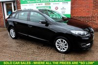 USED 2014 14 RENAULT MEGANE 1.5 DYNAMIQUE TOMTOM ENERGY DCI S/S 5d 110 BHP +SAT NAV +FREE Tax +FSH.