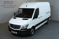 USED 2016 16 MERCEDES-BENZ SPRINTER 2.1 313 CDI 129 BHP MWB HIGH ROOF ONE OWNER FROM NEW, MOT UNTIL 30/03/2019