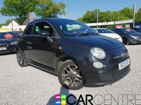 USED 2013 13 FIAT 500 1.2 S 3d 69 BHP 1 PRV OWNER + SERV HIST + HALF LEATHER INTERIOR